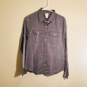 J. Crew Perfect shirt in light grey
